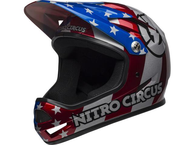 Bell Sanction Casco, red/silver/blue nitro circus